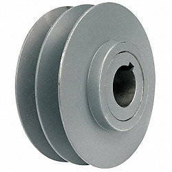 V-BeltPulley, 5.95 OD, 1-1/8 Bore, VarPitch