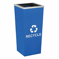 Recycle, 18 gal, Blue w/Silver Trim, Liner