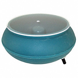 Vibratory Tumbler Bowl and Lid, 12In Dia.