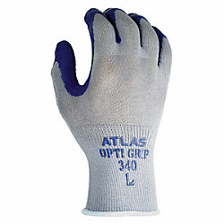 Coated Gloves, L, Gray/Purple, PR
