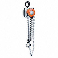 Hoist, Chain, 1/2T, 15 Ft Lift