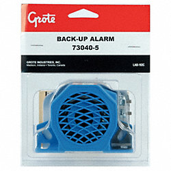 Back Up Alarm, 97dB, Blue, 3 In. H