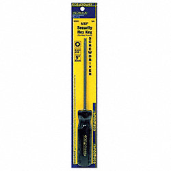 Security Hex Screwdriver, 5/32 In