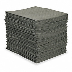 Absorbent Pads, 15 In. W, 26 gal., PK 100