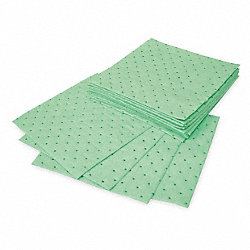 Absorbent Pads, 12 In. W, 12 In. L, PK 200