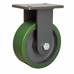 Rigid Plate Caster, 2500 lb, 8 In Dia