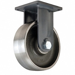 Rigid Plate Caster, 6500 lb, 10 In Dia