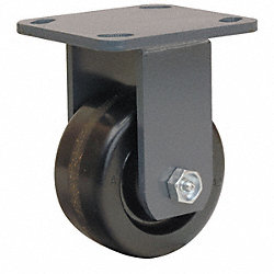 Rigid Plate Caster, 800 lb, 4 In Dia