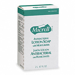 Antimicrobial Soap, Size 2000mL, Amber, PK4