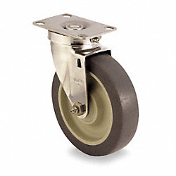 Swivel Plate Caster, 200 lb, 3 In Dia