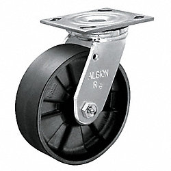 Swivel Plate Caster, 800 lb, 3-1/4 In Dia