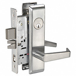 Mortise Lockset, Satin Chrome, Entrance