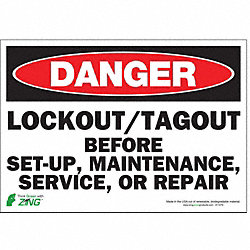 Danger Security Sign, 7 x 10In, ENG, Text