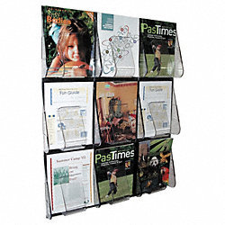 Magazine Holder, 9 Compartments, Clear