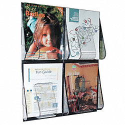 Magazine Holder, 4 Compartments, Clear