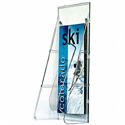 Leaflet Holder, 1 Compartment, Clear
