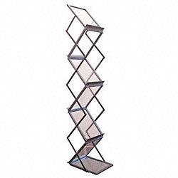 6 shelf portable aluminum floor stand