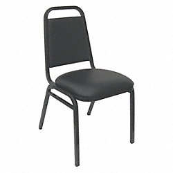Stack Chair, Black Vinyl