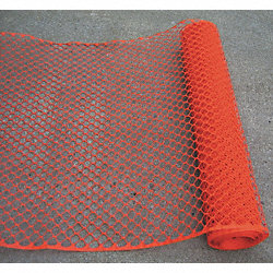 Barrier Fence, 4 ft. H, 50 ft. L, Orange