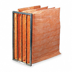 Pocket Air Filter, Fiberglass, 24x24x21In.