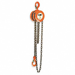 Hoist, Chain, 1T, 10Ft Lift