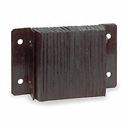 Dock Bumper, 6x32 3/4In, Rectangular