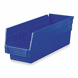 Shelf Bin, 17-7/8 x 6-5/8 x 4, Blue
