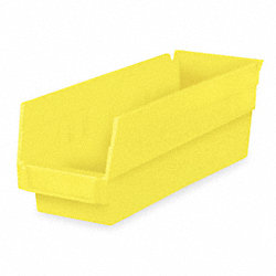 Shelf Bin, 17-7/8 x 4-1/8 x 4, Yellow