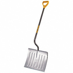 Snow Shovel, Alum, 18 In W, 14.5 In H