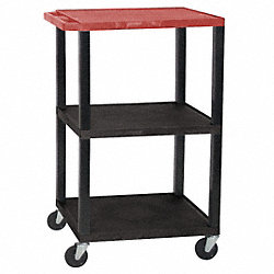 Utility Cart, 200 lb. Cap., Resin, 3 Shlvs