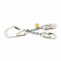 Restraint Lanyard, 1-2/3 ft., 310 lb, Steel