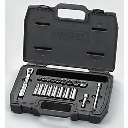 Socket Set, Std/Deep, 3/8Dr, 6 Pt, SAE, 20 Pc