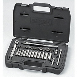 Socket Set, Std, 3/8 Dr, Metric, 29 Pc