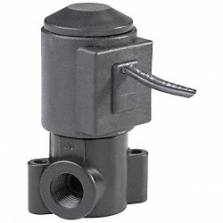Solenoid Valve, 2 Way, NC, Delrin, 1/4 In