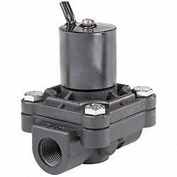Solenoid Valve, 2 Way, NC, Delrin, 3/8 In