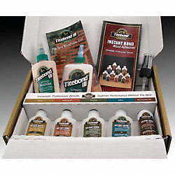Wood Adhesive Kit, Instant Bond, 6 Items