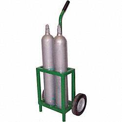 Cylinder Trolley, 35 In. H, 250 lb.