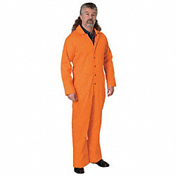 Flame-Resistant Coverall, Orange, XL, HRC2