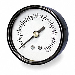 Pressure Gauge, 2 In, 0 to 1000 Psi