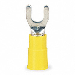 Fork Terminal, Yellow, 12 to 10 AWG, PK50