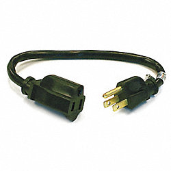 Power Cord, Ext, 16/3, 1Ft, 5-15P to 5-15R
