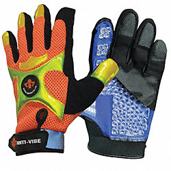 Anti-Vibration Gloves, 2XL, Black/Ornge, PR