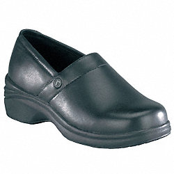 Clog Shoes, Pln, Womens, 7-1/2W, Black, 1PR