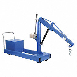 Mobile Floor Crane, CounterBalance, 1000Lb