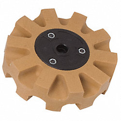Eraser Wheel, 4 In, Rubber, 4000 RPM Max