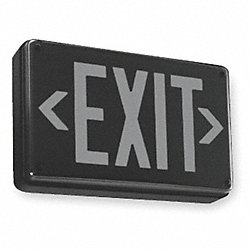 Exit Sign w/ Battery Back Up, 2.30W, Red, 1