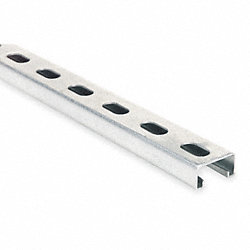 Channel, Half Slot, 10 Ft, 14 Gauge, SS