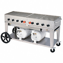 Gas Grill, 2 30 Lb Tanks