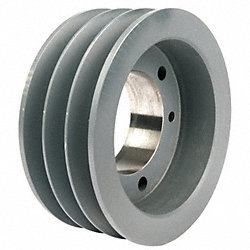 V-Belt Pulley, QD, 6.15 In OD, 3 Groove