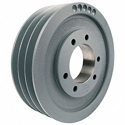V-Belt Pulley, QD, 14.4 In OD, 3 Groove
